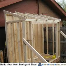 12x16 Slant Roof Shed Plans by Lean To Shed Plans