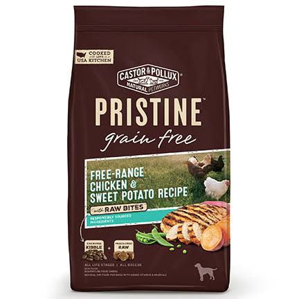 Castor & Pollux Pristine Grain Free Dog Food - Free-Range Chicken & Sweet Potato Recipe