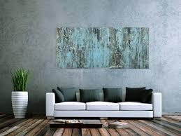 abstraktes acrylbild modern blau grau weiß rot auf leinwand handgemalt
