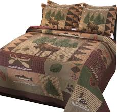 Greenland Home Bedding by Greenland Home Moose Lodge Quilt U0026 Sham Set 3 Piece King