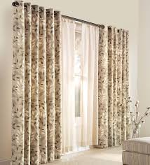 Grommet Insulated Curtain Liners by Plow U0026 Hearth Leaves Nature Floral Blackout Thermal Grommet
