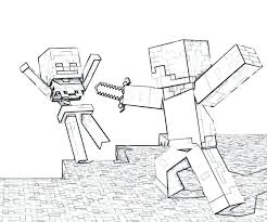 Coloring Pages For Minecraft Free Of Com Steve