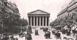 bureau de change madeleine la rue royale et la madeleine antique print 1900