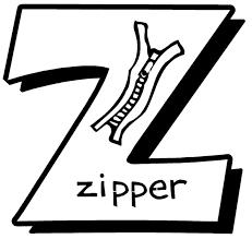Alphabet Coloring Pages Zipper