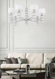 casa padrino designer kronleuchter silber weiß ø 80 x h 37 2 cm moderner metall kronleuchter mit eleganten glaselementen und runden