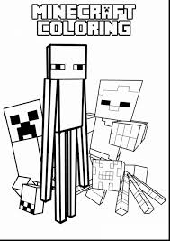 Incredible Minecraft Coloring Pages To Print With Color And Wolf