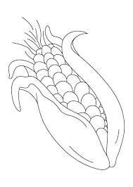 Very Sweet Corn Coloring Pages