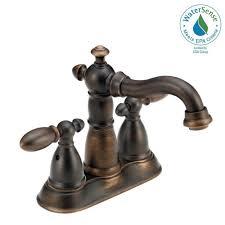 delta victorian 4 in centerset 2 handle bathroom faucet with