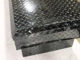 Black Aluminum Diamond Plate Truck Bed Tool Storage Box Chest Ebay ...