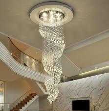 moderne kronleuchter led spiral kristall licht decke villa