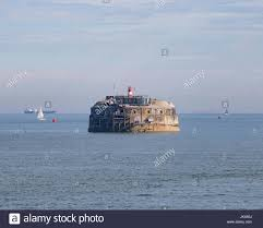 100 Spitbank Fort In The Middle Of Spithead Stock Photo