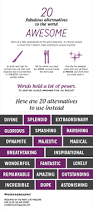 Shed Any Light Synonym by 20 Words To Use Instead Of Awesome Infographic Writing Grammar