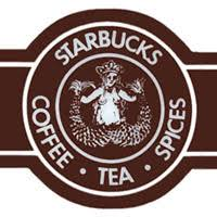 With A Coffee Brown Color Scheme The Circular Ring Surrounding Mythological Mermaid Figure Contained Text Starbucks