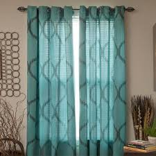 Brylane Home Sheer Curtains by Impressive Teal Grommet Curtains And Bella Luna Marina Solid Semi