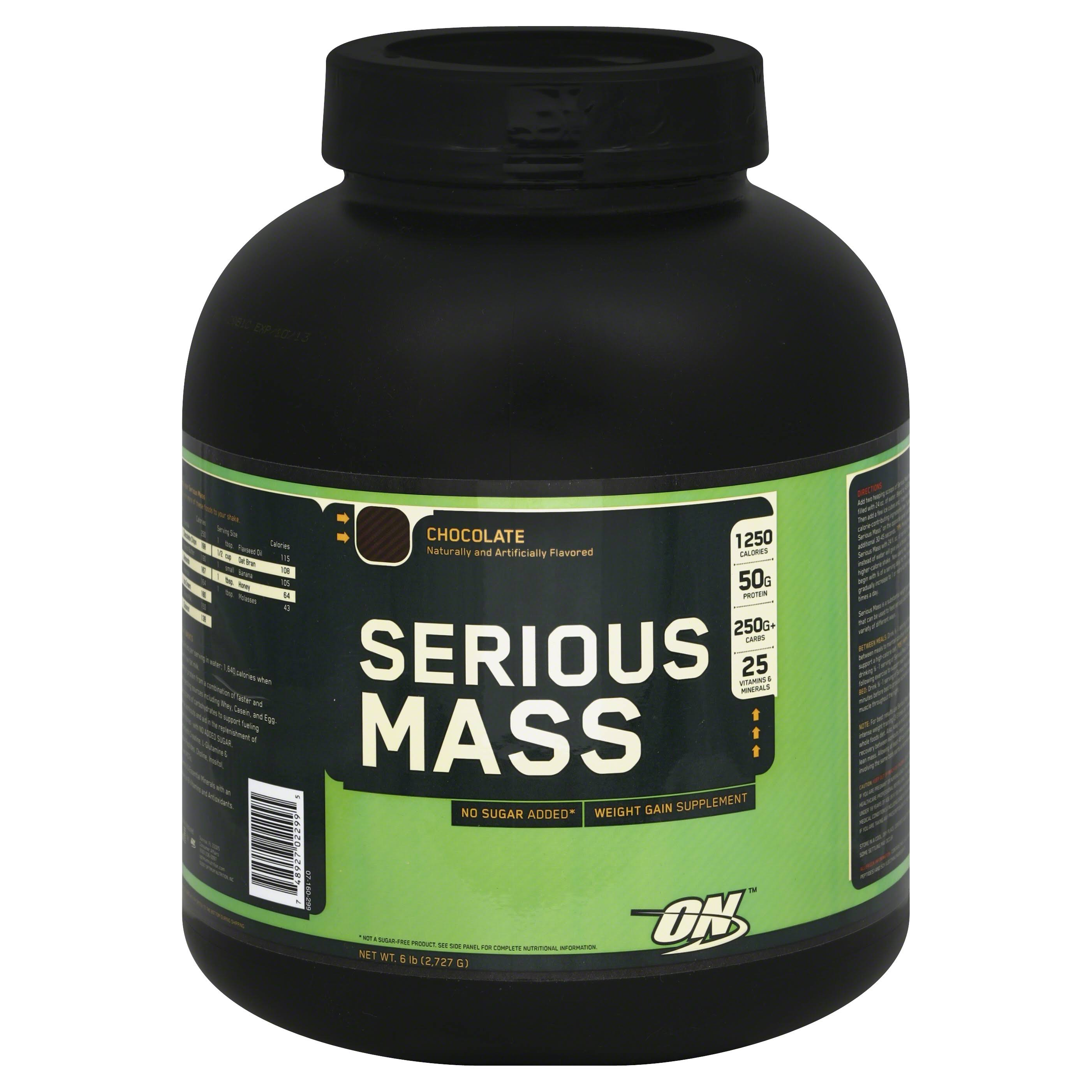 Optimum Nutrition Serious Mass Protein Powder - Chocolate Flavour, 2.73kg