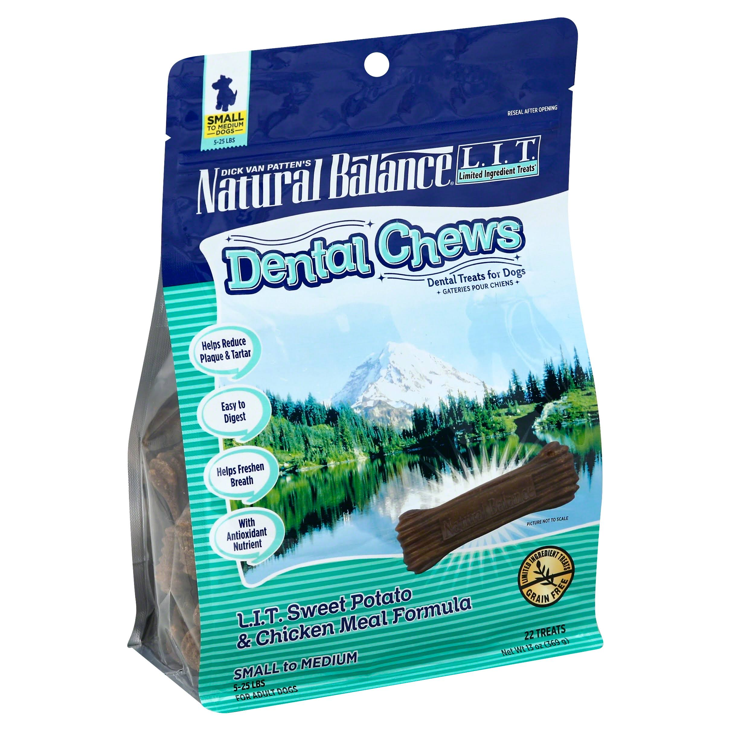 Natural Balance Dental Dog Chews - Sweet Potato & Chicken Meal Formula