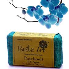 Organic Patchouli Soap Rustic Art Chemical Free Handmade Anti Depressant Septic