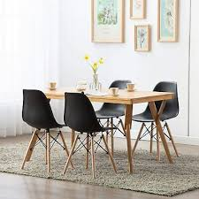 6x skandinavisch design stühle weiß holz eiche esszimmer