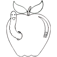 Worm Apple Coloring Book Downloads