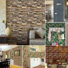 3d Stone Brick Wall Stickers Home Decor Vintage Diy Pvc Wallpaper For Living Room Kitchen Self Adhesive Art Decorative Best Decals