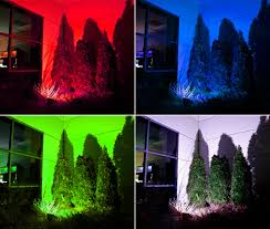 colored landscape lighting lilianduval