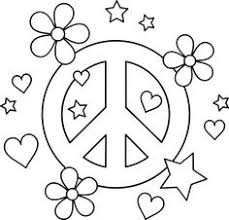 Hippie Flower Coloring Pages