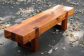 Wood Bench Rustic Modern Outdoor Patio Garden Cedar
