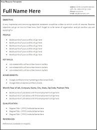 Resume Job Sample Of Resumes For Jobs Examples Unique