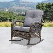 Shop Corvus Salerno Outdoor Wicker Rocking Chair With Cushions In ... 3piece Honey Brown Wicker Outdoor Patio Rocker Chairs End Table Rocking Luxury Home Design And Spring Haven Allweather Chair Shop Abbyson Gabriela Espresso On 3 Piece Set Rattan With Coffee Rockers Legacy White With Cushion Fniture Cheap Dark Find Deals On Hampton Bay Park Meadows Swivel Lounge
