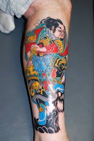 Fabulous Asian Tattoo Design With Color Ink