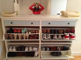 Fascinating Ikea Shoe Closet Design Installed At Contemporary