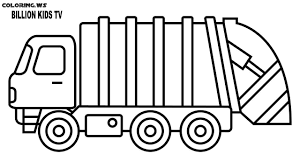 Garbage Truck Coloring Page | Truck Coloring Pages | The History Of ...