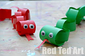 Chinese New Year Snake Craft For Kids Paper Chain Years