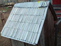 diy how to recycle aluminum soda and cans into roof shingles