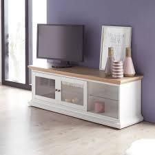 tv schrank in weiß mit glastüren tv bank preiswert kaufen