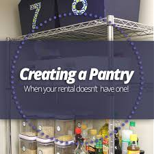 Creating a Pantry when your rental doesn t have one
