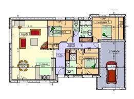 plan maison plain pied 2 chambres maison plain pied 2 plan gratuit maison plain pied plein pied