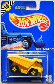 100 Blue Dump Truck HOT WHEELS 1990 BLUE CARD DUMP TRUCK 38 PLASTIC DUMP 07 0011465