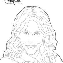 Violetta Photo Shoot Blowing Kisses Coloring Page