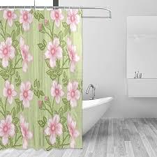ahomy duschvorhang blumen leaf badewanne vorhang wasserdicht