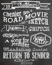 Free Fonts Chalkboard