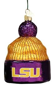 Old World Christmas Ornaments LSU Beanie Glass Blown For Tree