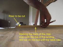 Cut Laminate Flooring With Miter Saw by Installing Laminate On Angled Stairs