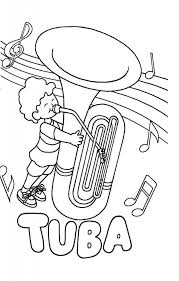Tuba Coloring Pages Hellokidscom Castanets Page In