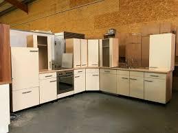 gebrauchte l form küche in creme inkl geräte sofort ab lager