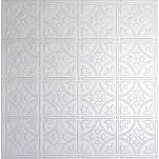 Tin Ceiling Tiles Home Depot by Global Specialty Products Dimensions 2 Ft X 2 Ft Matte White Lay