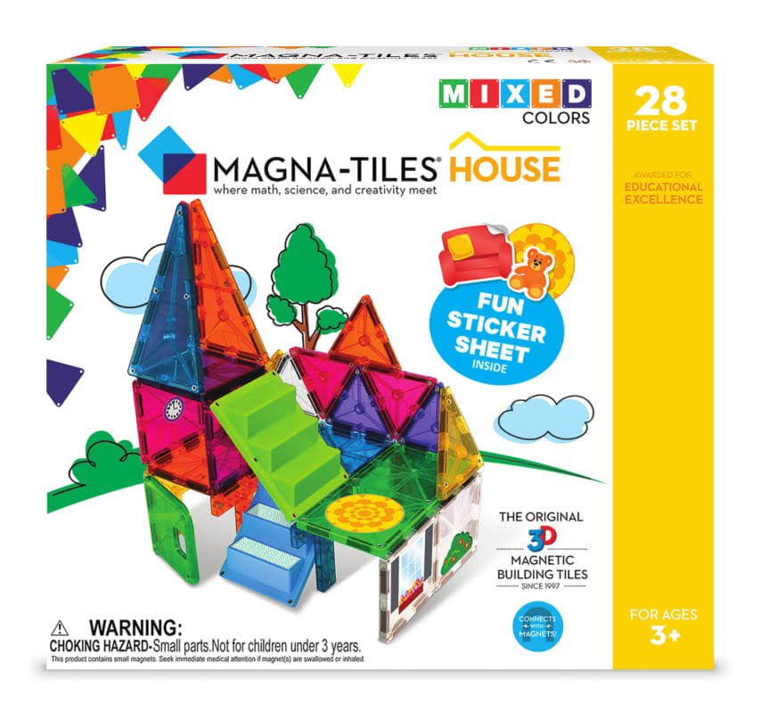 Valtech Magnatiles 28piece Magnetic Building House Set