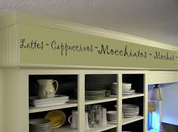 Coffee Kitchen Words Border Vinyl Wall Decor Cafe Free Shipping 1899 Via