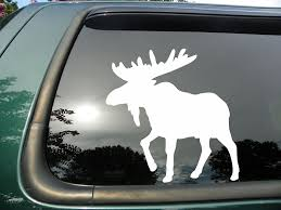 Amazon.com: Moose- Die Cut Vinyl Window Decal/sticker For Car Or ...