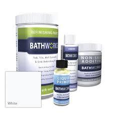 Bathtub Refinishing Kit Spray by Shop Bathworks 22 Fl Oz Tub And Tile Repair At Lowes Com